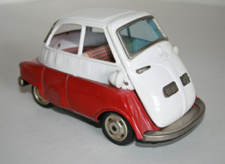 Bandai 50'S 6.5 inches japan friction tin bmw Isetta