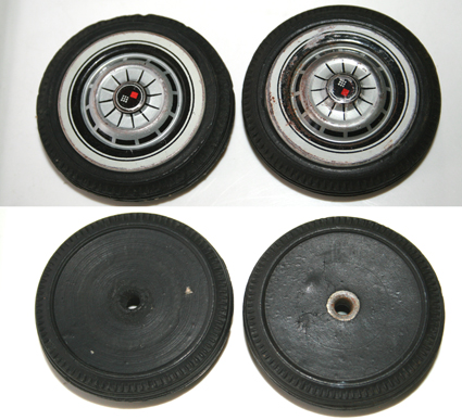 2 TIRES WITH HUBCAP BACK AND FRONT ICHIKO YANOMAN CHEVROLET 1962