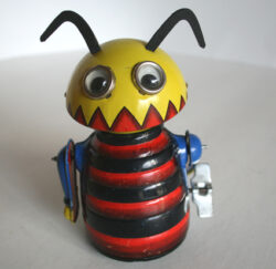 Marx Toys 50's wind up tin Chomper Bug original tin toy robot