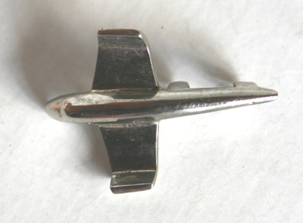 new silver hood ornament tin toy part