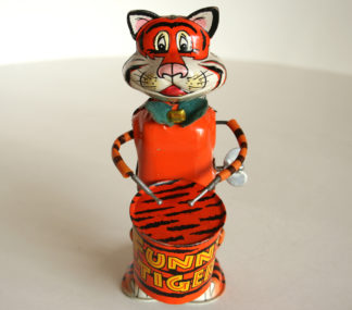 Marx Funny Tiger 60's wind up original tin toy