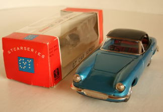 Bandai Japan Lotus Elan 60's Friction in cristal box 8.5 inches (21.5 cm) original tin toy car Item 1 BandaiTFCbx