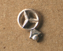 Bandai, Ichiko, Aoshin, Asahi etc. Substitute Tin Emblem By Mercedes Benz tin toy parts Item 1BandaiOthersPartC