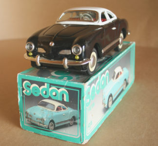 NewToy China VW Karmann Ghia Friction in box 10 inches (25 cm) original tin toy car Item 1NewToyTFCbx
