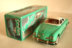 NewToy China VW Karmann Ghia Friction in box 10 inches (25 cm) original tin toy car