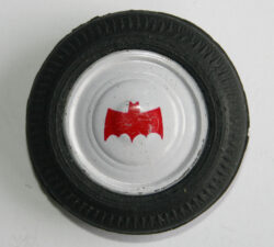 Back Tire with Tin Hubcap by Batmobile Taiwan 70's