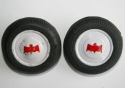 Front 2-Tire with Tin Hubcaps by Batmobile Taiwan 70's