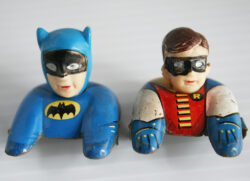 Aoshin Batman and Robin Blue Black Batmobile 60's