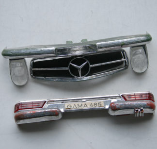 Bumpers with Grill, head and tail lights Mercedes 380