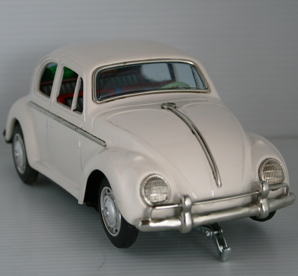 Taiyo 60 S Volkswagen Beetle Battery Operated 9 75 Inches 25 Cm Original Tin Toy Car