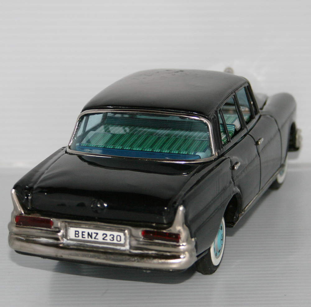 Bandai 60's Mercedes Benz 230 Battery Operated 11 Inches