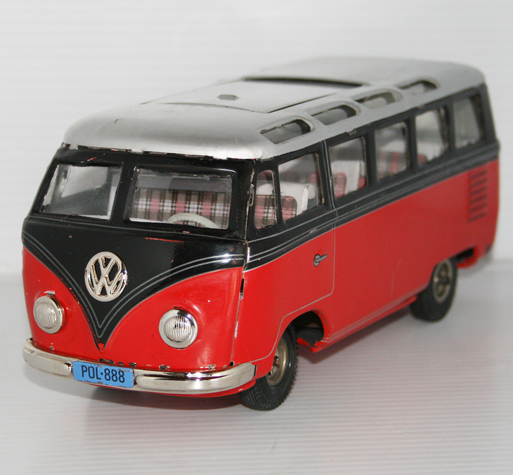 Lemy Poliumex México 60 S Volkswagen Transporter Micro Bus Free Repro Box Friction 9 5 Inches 24cm Original Tin Toy Car 5tipp Co
