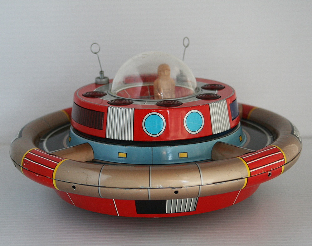 Nomura 60's Space Commander  Battery Operated 9.25 inches (23.5 cm) original tin toy space