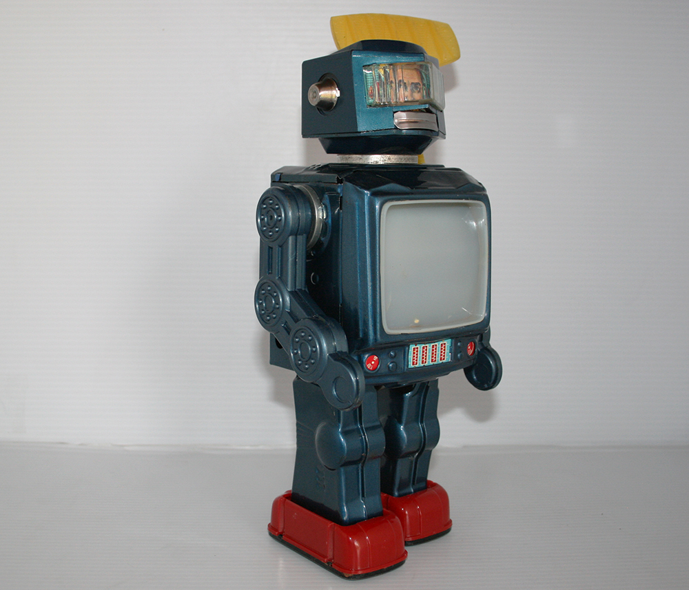 Horikawa 60's Radar Robot, Battery Operated 12.75 inches (32.5 cm) original tin toy space robot