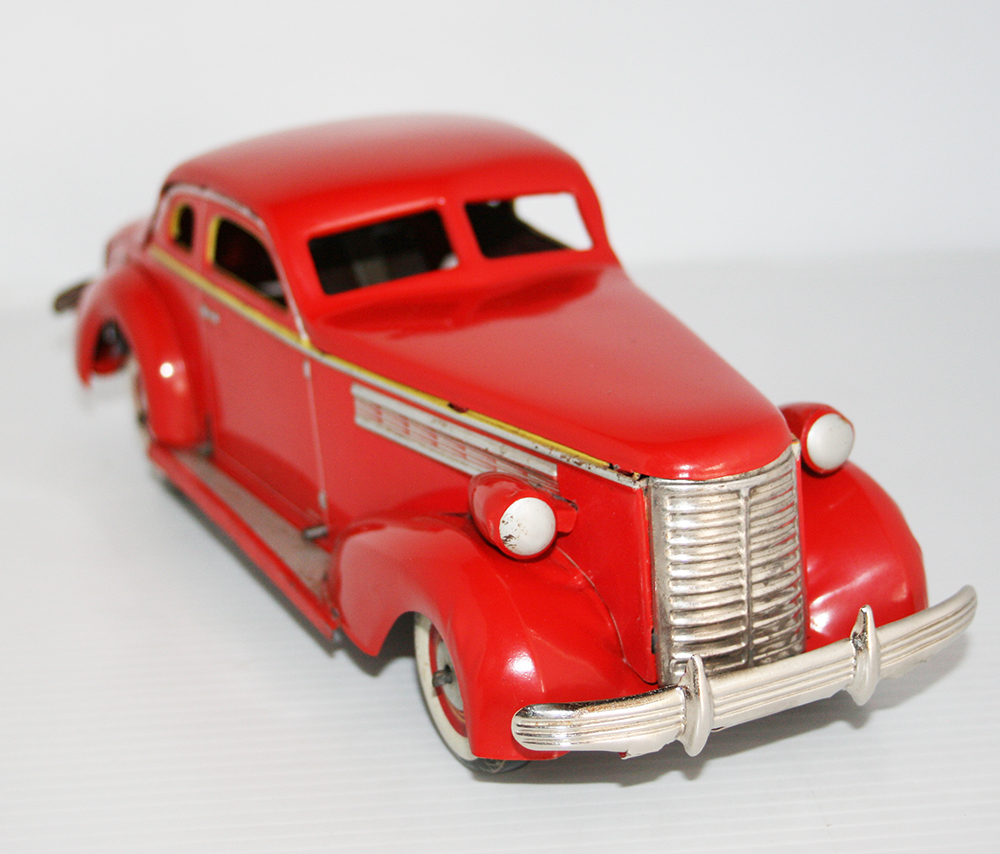 Kuramochi 30's Buick 1938 Windup 11.5 inches (29 cm) original tin toy car
