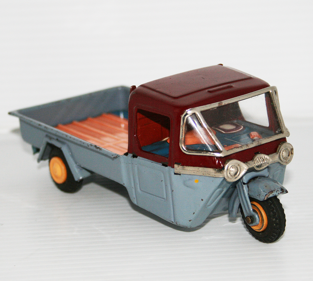 Bandai 50's Mazda Three-Wheels Truck / Motorcycle First Edition Friction 6.5 inches (16.5 cm) original tin toy truck motorcycle