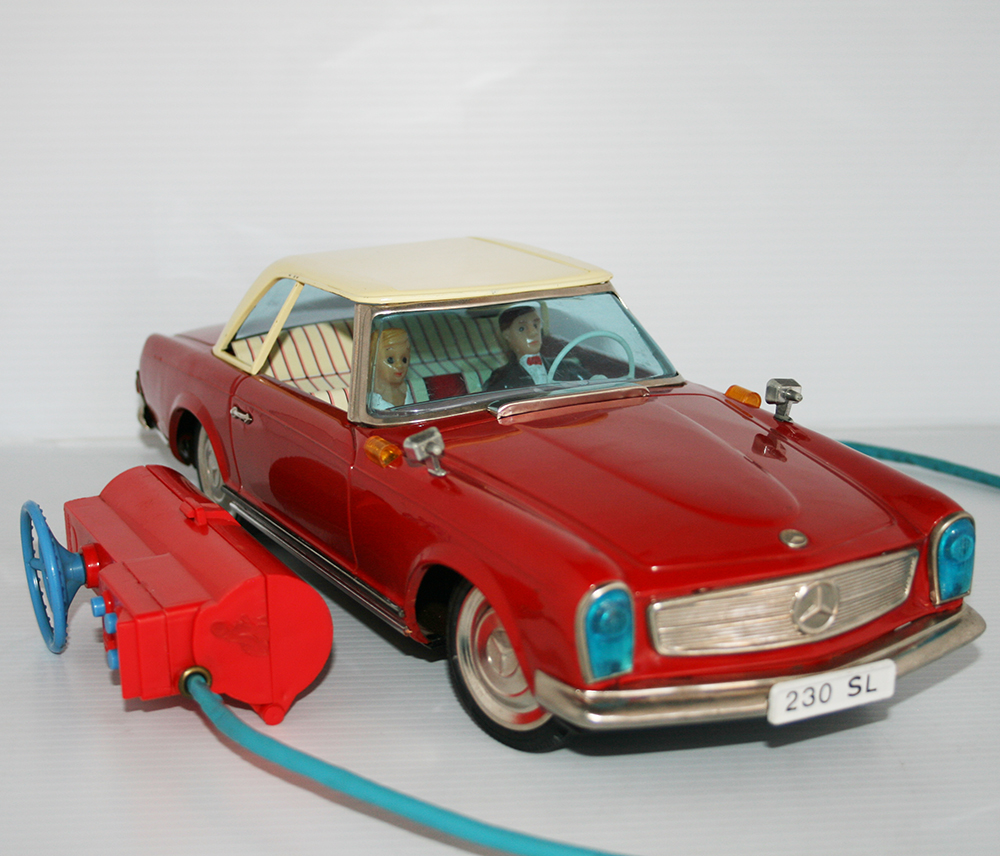 Yanoman 60's Mercedes Benz 230 SL R/C Battery Operated 15.25 inches (39 cm) original tin toy car