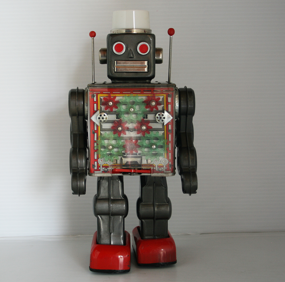 Horikawa 50's 60's Machine Robot Battery Operated 11.5 inches (29 cm) original tin toy Space Robot