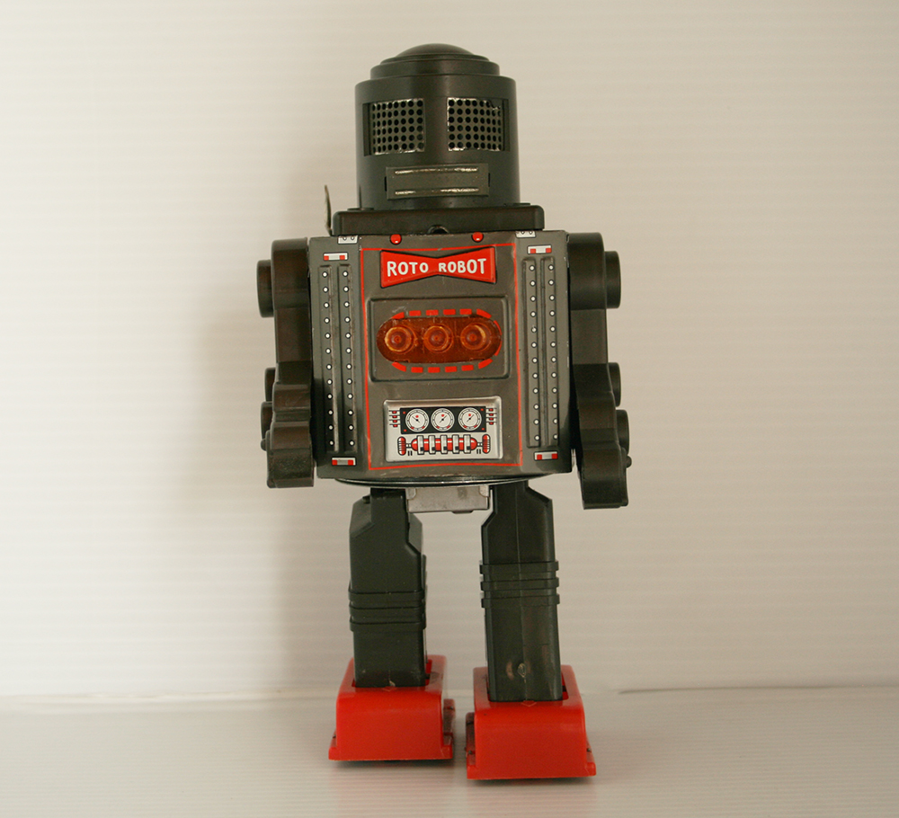 Horikawa 60's Roto Robot Battery Operated 8.75 inches (22 cm) original tin toy Space Robot